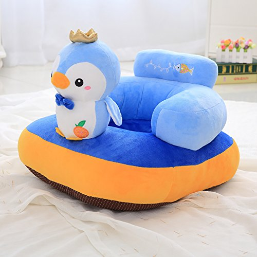 Roner Children's Plush Chair Animal Sweet Seats Bean Bag Armchair Kids Furniture Chairs for Playroom Bedroom Blue Penguin 22x18x14x6 Inches