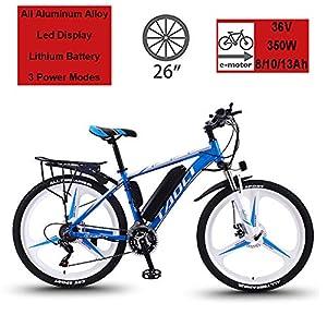 """51Zbk4E1aQL. SS300 Hyuhome Biciclette elettriche per Adulto, in Lega di magnesio Ebikes Biciclette all Terrain, 26"""" 36V 350W 13Ah Rimovibile agli ioni di Litio Montagna-Bici per la Mens"""