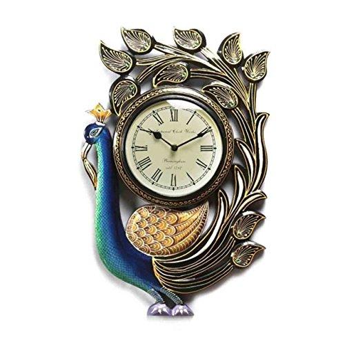 Deny Designs Shannon Clark Pretty Peacock 12-inch Round Clock