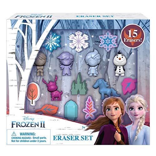Frozen Characters For Party (Disney Frozen 2 Erasers Set 15 Pack Frozen Gift for)