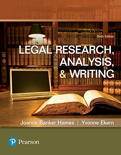 Legal Research, Analysis, and Writing: Legal Resea Analy Writi ePub6