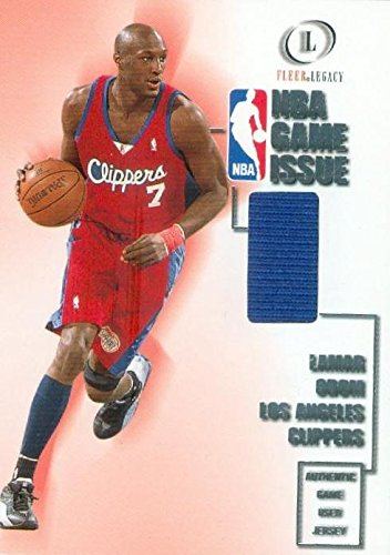 b7825a8f382f Lamar Odom player worn jersey patch basketball card (Los Angeles Clippers)  2001 Fleer Legacy  13 at Amazon s Sports Collectibles Store