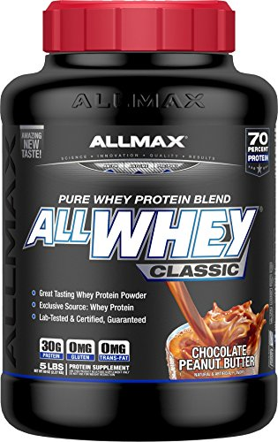 ALLMAX Nutrition AllWhey Classic 100 Whey Protein, Chocolate Peanut Butter, 5 lbs