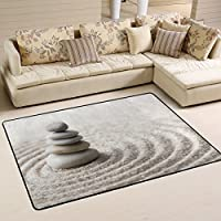 DEYYA Non-slip Area Rugs Carpet Home Decor,Buddah Buddhist Zen Art Floor Mat Doormats for Living Room Bedroom 72 x 48 inches