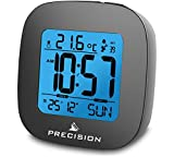 Precision Radio Controlled LCD Backlit Alarm Date Temperature Clock.