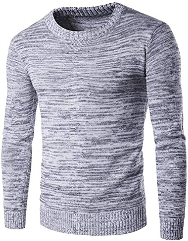 Męski sweter z długim rękawem casual okrągły dekolt jesień modny dekolt sweter zima elegancki normalny lakier długi rękaw okrągły dekolt sweter dziergany: Odzież