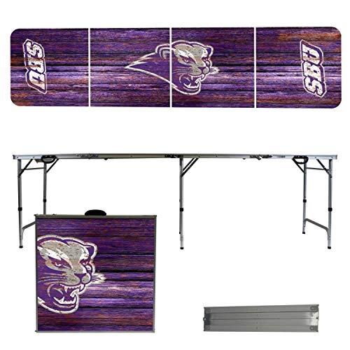 - Victory Tailgate NCAA Southwest Baptist University 8'x2' Foldable Tailgate Table with Adjustable Hight and Spill Resistant Sealant - Weathered Series