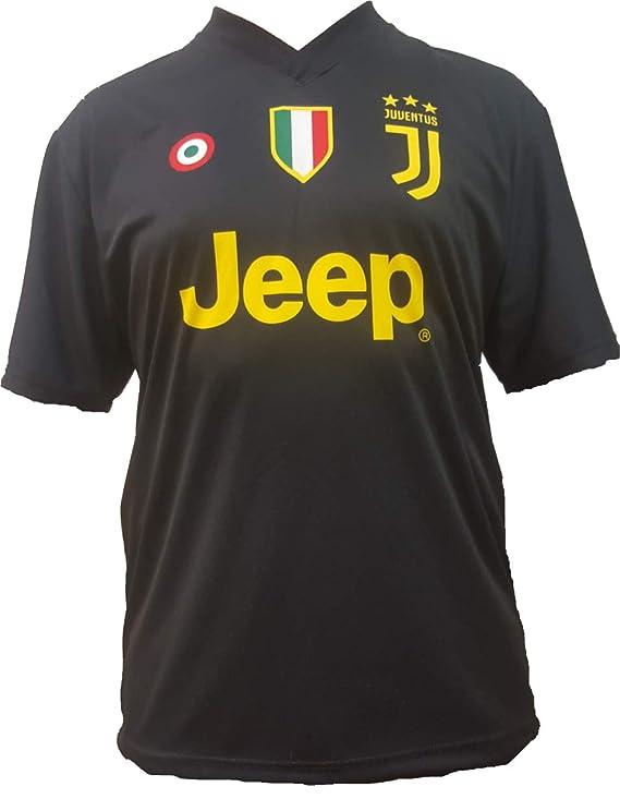 Camiseta de Fútbol Paulo Dybala 10 Juventus Tercera Camisa Negra Temporada 2018-2019 Replica Oficial con Licencia - Todos Los Tamaños NIÑO y Adulto: ...