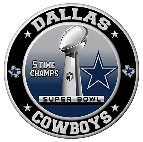 Dallas Cowboys Super Bowl Championship Sticker, NFL Decal (8