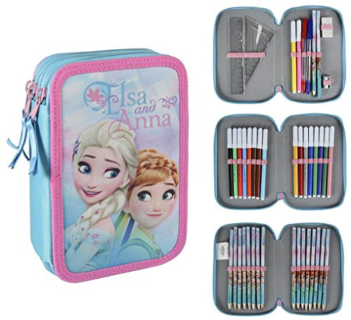 Disney Frozen 2700-204 Filled Pencil Case Triple, 3 Compartm