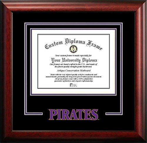 University Diploma Frame East Carolina - NCAA East Carolina Pirates Spirit Diploma Frame, 11 x 14, Mahogany