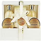 Deluxe Bath Spa Gift Set -Special MOMENTS Organic Bath and Body Spa Treatment for birthday gift, holiday gift etc - Perfect Bath Gift Set for Women - All-Natural Spa Treat Gift Basket review