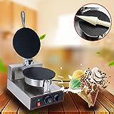 6 crepe maker - 110V Single Head Electric Ice Cream Waffle Cone Maker Crepe Making Machine