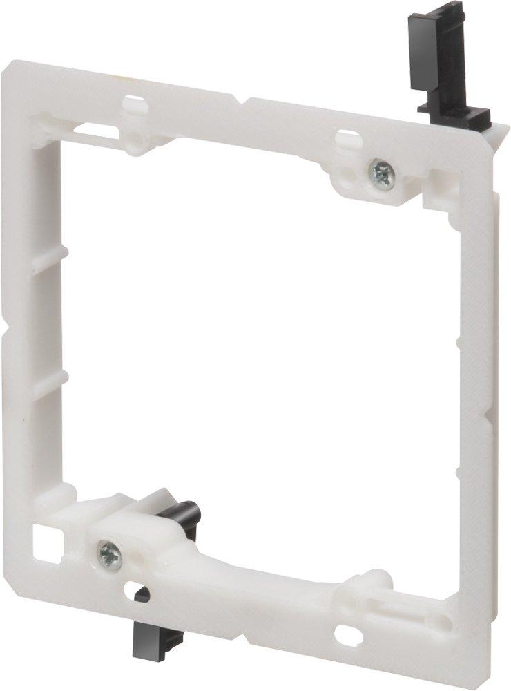 Arlington Industries LV2LP 2-Gang Low-Profile Low-Voltage Mounting Bracket, Non-Metallic, 5-Pack
