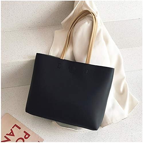 寛大で、キュートな日本と韓国の人気のトートバッグ、新しいトレンド、春と夏のファッション、すべてのマッチハンドバッグ、ショルダーバッグ、大型バッグ、大容量のハンドバッグ、シンプル、 (Color : Black+(Beige))