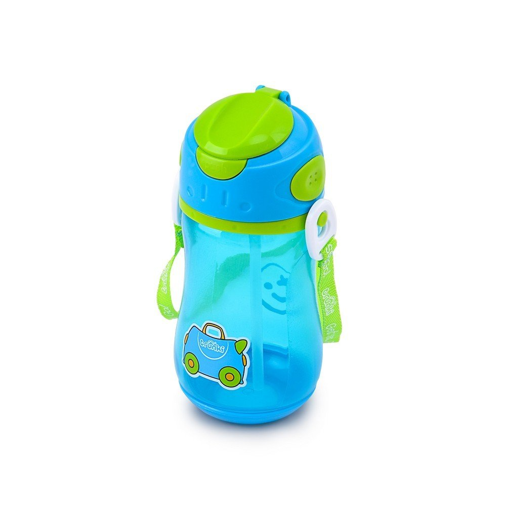97928600c30a Trunki Toddler Drinks Bottle With Straw with Kids Carry Strap - Terrace ( Blue)  Amazon.co.uk  Luggage