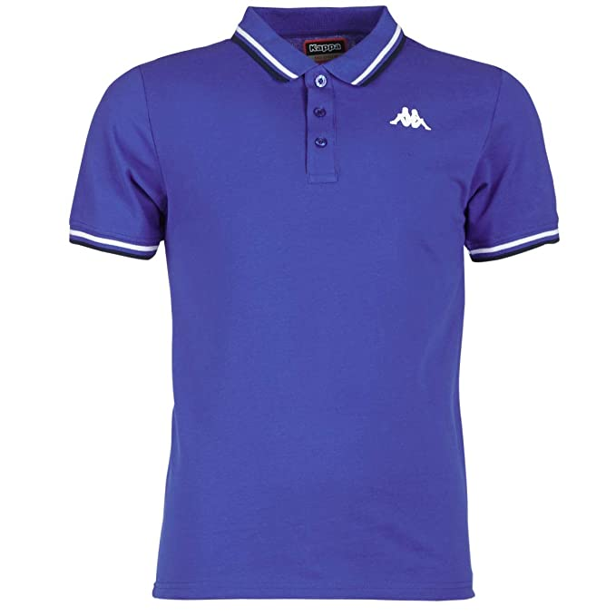 Kappa Polo Hombre Casual Logo Esmano. 303G7W0. Blue Royal/White ...