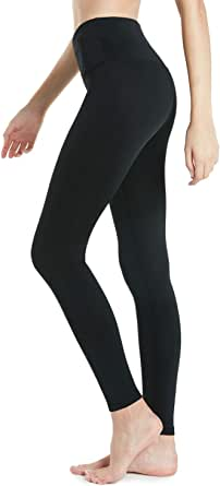TSLA Women's (Pack of 1, 2) Thermal Yoga Pants, High Waist Warm Fleece Lined Leggings, Winter Workout Running Tights with Pockets