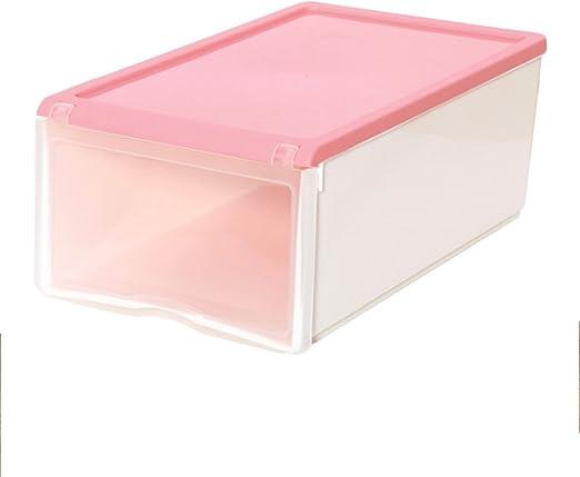 Caja de zapatos de plástico color Funda con tapa tipo caja de ...