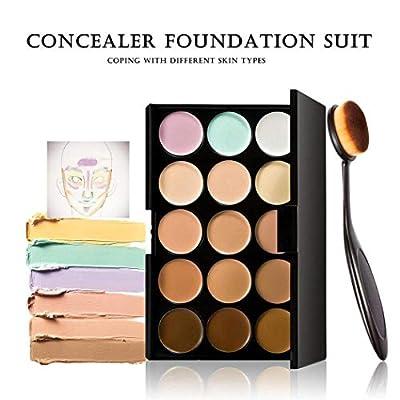Bulges 15 Color Contour Cream Concealer Palette With Brush Foundation Makeup Concealers & Neutralizers