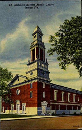Seminole Heights Baptist Church Tampa, Florida Original Vintage Postcard