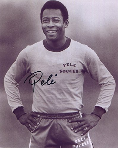PELE AUTOGRAPHED 8x10 PHOTO+COA SOCCER LEGEND (8x10 Pele Photo Autographed)