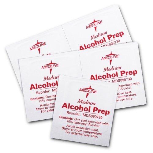 Box Alcohol - MDS090735 - Sterile Alcohol Prep Pads, Medium, Pack of 3000