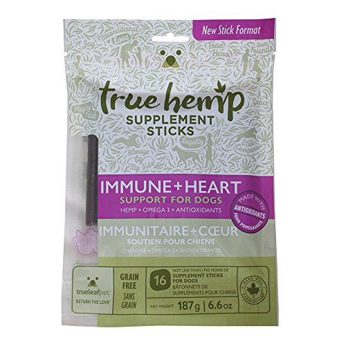 True-Leaf-Pet-77060-Hemp-Supplement-Sticks-Immune-Heart-Support-for-Dogs-66-oz