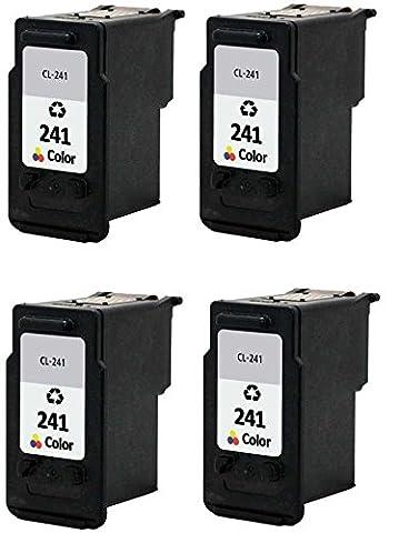4/Pack CL 241xl Color Ink cartridges Compatible with: PIXMA MG 2120 2140 2220 3120 3122 3140 3220 3520 4120 MX 372 374 392 432 434 439 452 459 (Pixma Mx 472)