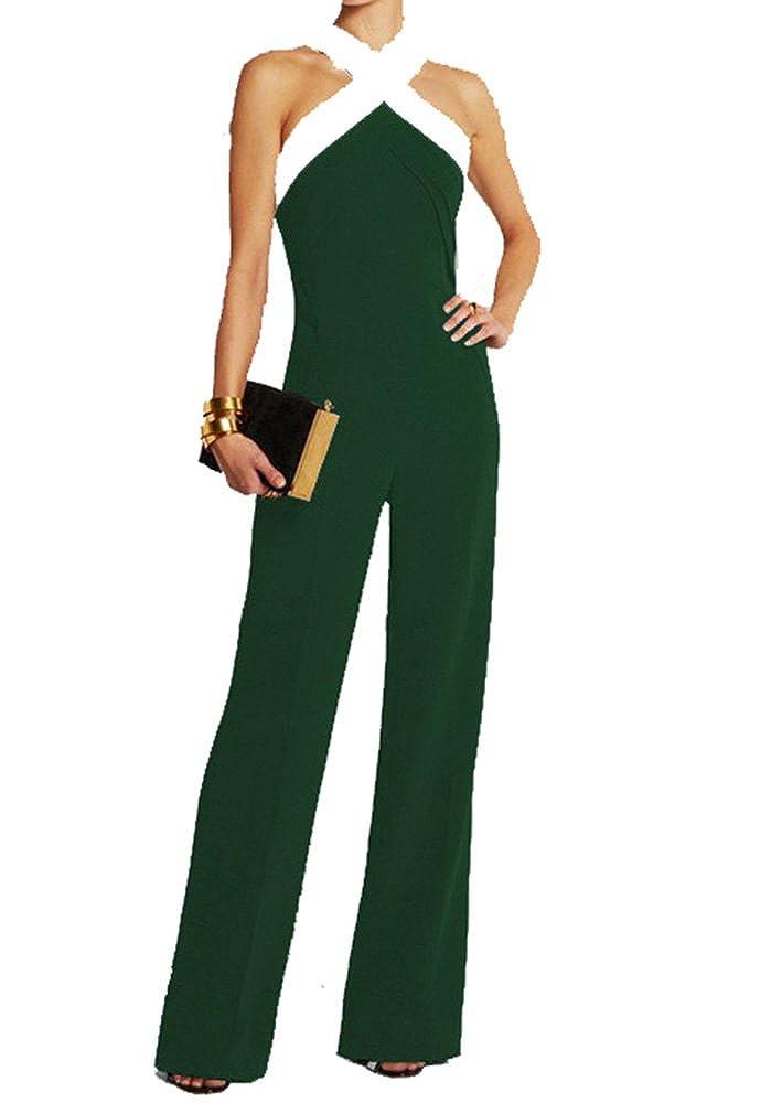 Ovender Tuta Donna Eleganti con Pantaloni Lungo Vestito Abito da Donna Elegante Casual Party Jumpsuit Intero Cerimonia