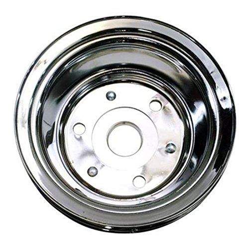 1969-85 Small Block Fits Chevy Double Groove Lower Pulley, Long Water Pump ()