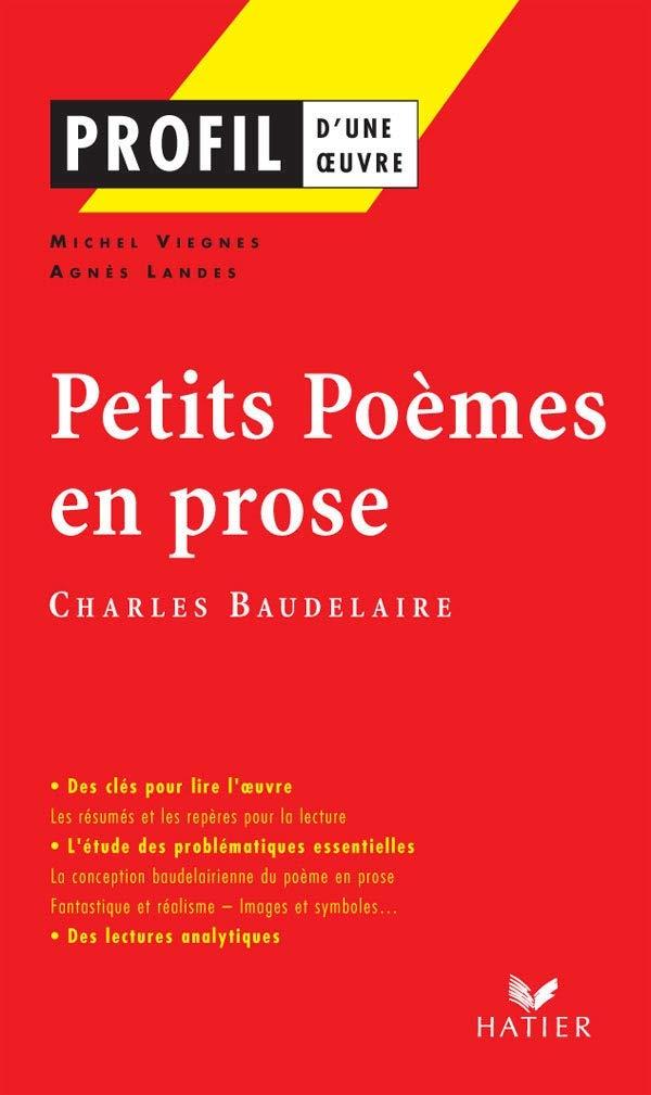 Petits Poemes En Prose 1869 French Edition Charles P Baudelaire Charles Baudelaire Michel J Viegnes Agnes Landes 9782218920400 Amazon Com Books