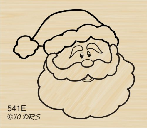 Santa Face Rubber Stamp By DRS Designs