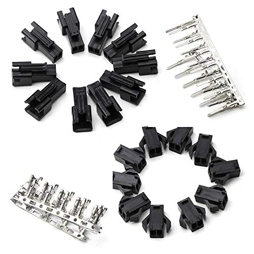 Davitu Connectors - 2.54mm Dupont Connector 60PCS/set Wire Cable Jumper Pin Header Housing Connector Male/Female Crimp Pin Connector Terminal ()