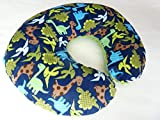Nursing Pillow Cover. Dinosaur Print Cuddle. You choose the Dimple Dot back. Back is pictured in Jade Dimple Dot.