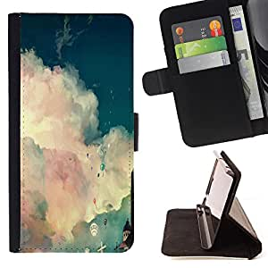 Jordan Colourful Shop - FOR Samsung Galaxy S6 - is not a time of life - Leather Case Absorci¨®n cubierta de la caja de alto impacto