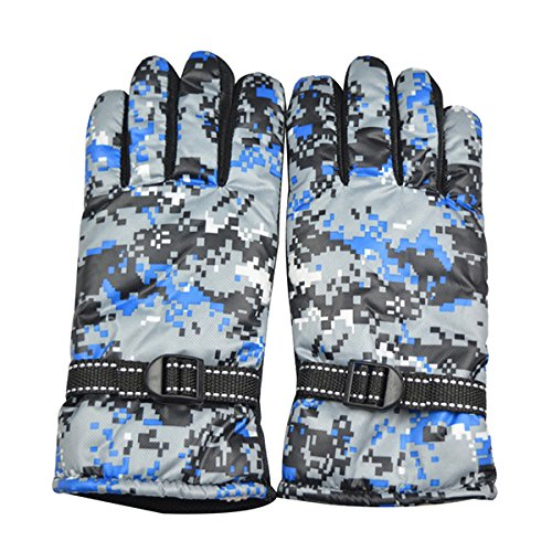 CoCocina Full Finger Cycling Motorcycle Gloves Mountain Bike Camouflage Navy Men Free Size For BOODUN