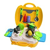 YOOMUN 3 Style Pretend Play Children Simulation Kitchen Cooking Make Up Case Doctor Kids Plastic Toy Cosplay Set for Children Kids Baby
