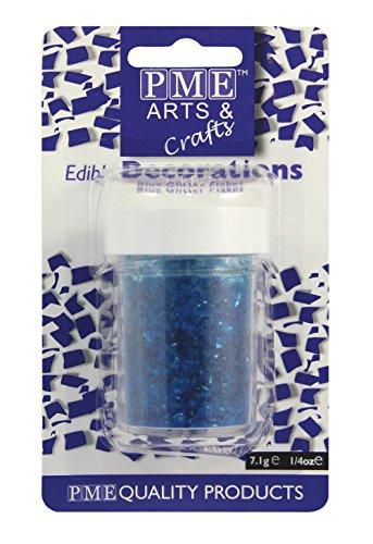 PME GF142 Edible Glitter Flakes-Blue (7.1g), Standard