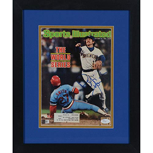 Robin Yount Milwaukee Brewers Framed Autographed World Series Sports Illustrated - JSA Certified - Autographed MLB Magazines