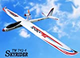 "Huge 78"" Wingspan 6Ch 2.4GHz Radio Remote Control Electric Skyrider RC Airplane Glider RTF w/ EPO Durability + With Flaps"