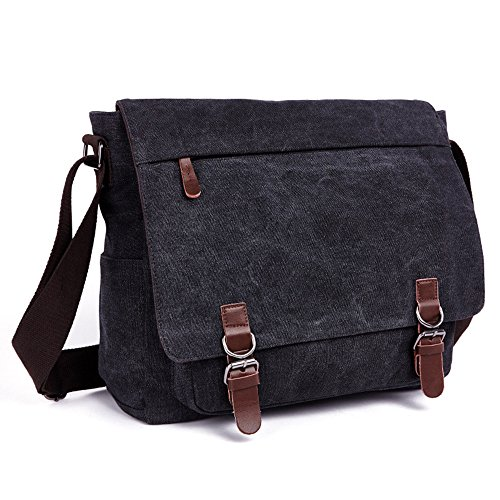 LOSMILE Laptop Messenger Bags, Men's Shoulder Bag, 16 Inches Vintage Canvas...