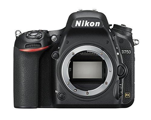 Nikon D750 SLR-Digitalkamera (24,3 Megapixel, 8,1 cm (3,2 Zoll) Display, HDMI, USB 2.0) nur Gehäuse schwarz