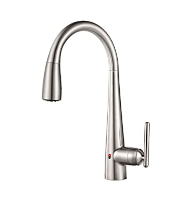 Pfister GT529-ELS Lita Single Handle Pull-Down Faucet with React Touch Free Technology, Stainless Steel