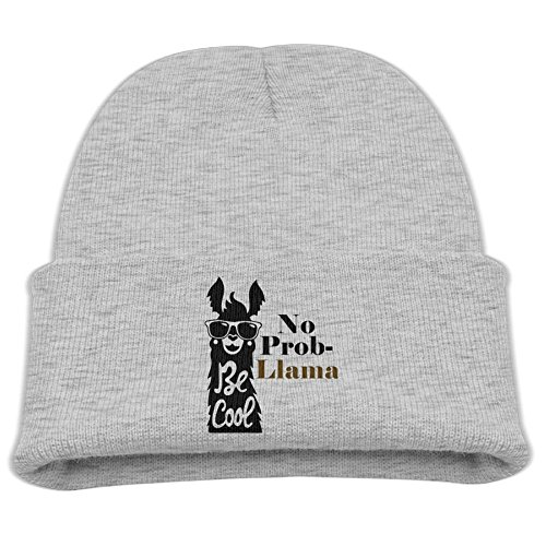 OHMYCOLOR Smiling Sunglasses No Problem Llama Kid Knit Beanies Hats For Boys Girls Unusual Cotton Winter Child Trucker Baseball Caps - Days 7 To Sunglasses Die