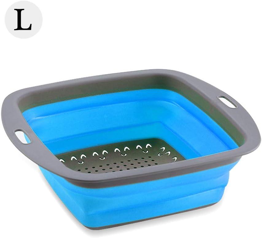 GTWCK Collapsible Drain Baskets,Portable Folding Washing Vegetable Basket with Drain Colander Washing Bowl Basin Sink Dish Washing Sink for Kitchen Fruits Vegetables Washing Basket Dish Tub