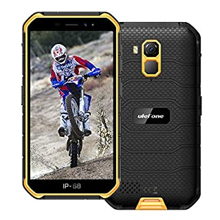 """Ulefone Armor X7 Pro 4G Rugged Phones Unlocked, Android 10 Quad-core 4GB+32GB ROM Expansion Supported 128GB 13MP+5MP Dual Camera 5.0"""" HD+ Screen 4000mAh Battery Dual 4G Rugged Smartphones (Orange)"""