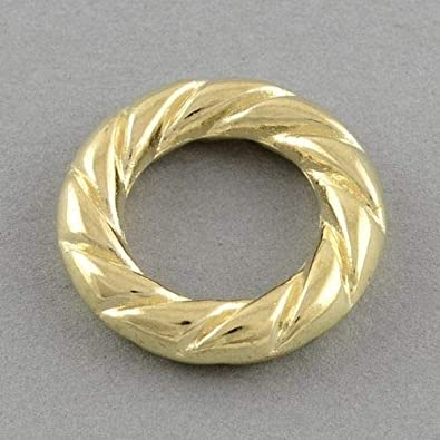 Amazon com: Milleona Gold 22mm Roped Acrylic 14mm Hole Slide Bead