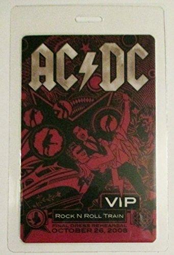 2008 AC/DC ACDC Laminated Backstage Pass V.i.p. Rock N Roll Train Dress Rehearsal (Ac Dc Rock N Roll Train Live)