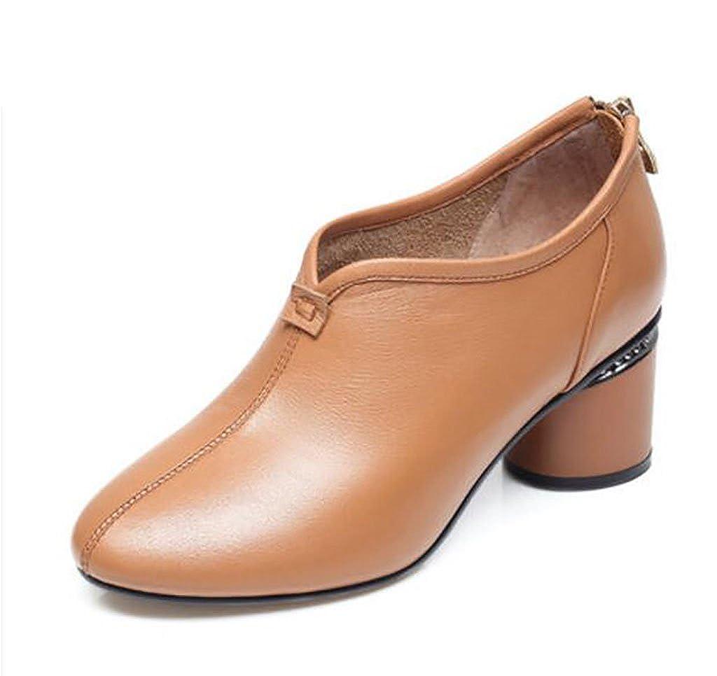 Single Schuhe Frauen, Bequeme Casual High Heels, Frühjahr und Sommer Einzelne Schuhe, Damenschuhe, Dicke Fersen